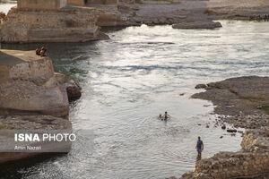 شنا در رودخانه «دز»