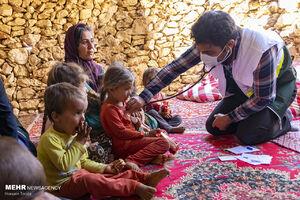 عکس/ گروههای جهادی در مناطق محروم عشایری لردگان