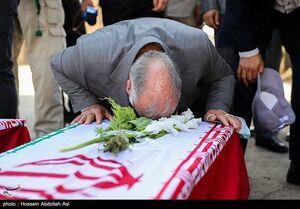 عکس/ ورود پیکر ۴۳ شهید تازه تفحص شده از مرز شلمچه