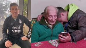 مسی هوادار ۱۰۰ سالهاش را سورپرایز کرد