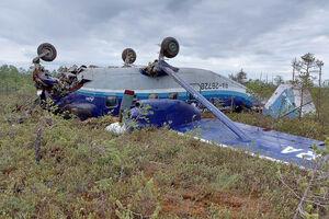 عکس/ هواپیمای مسافربری که در سیبری دچار سانحه شد