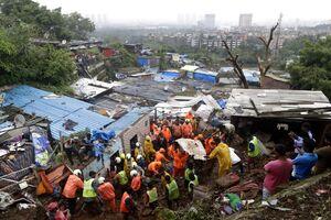 عکس/ رانش زمین در حومه «بمبئی» هند