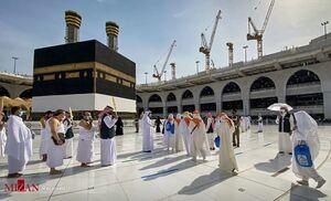 عکس/  مراسم محدود حج در عربستان