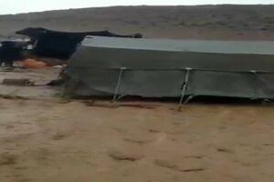 جاری شدن سیلاب عشایر سمیرم را غافلگیر کرد +فیلم