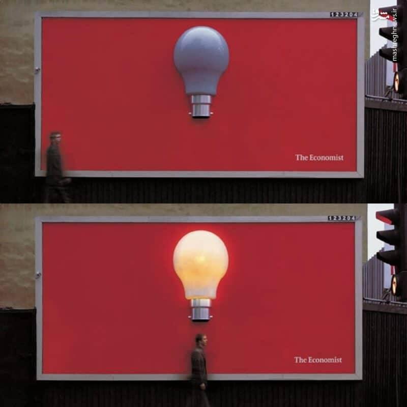 خلاقیت جالب در تبلیغ اکونومیست+ عکس