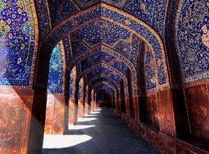 عکس/ شاهکار معماری در مسجد جامع عباسی