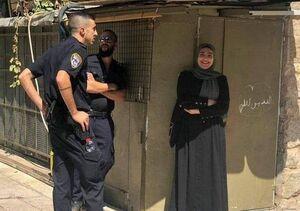 لبخند دختر فلسطینی پس از بازداشت
