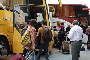 تمام اتوبوس های تهران به رشت پر شد +عکس