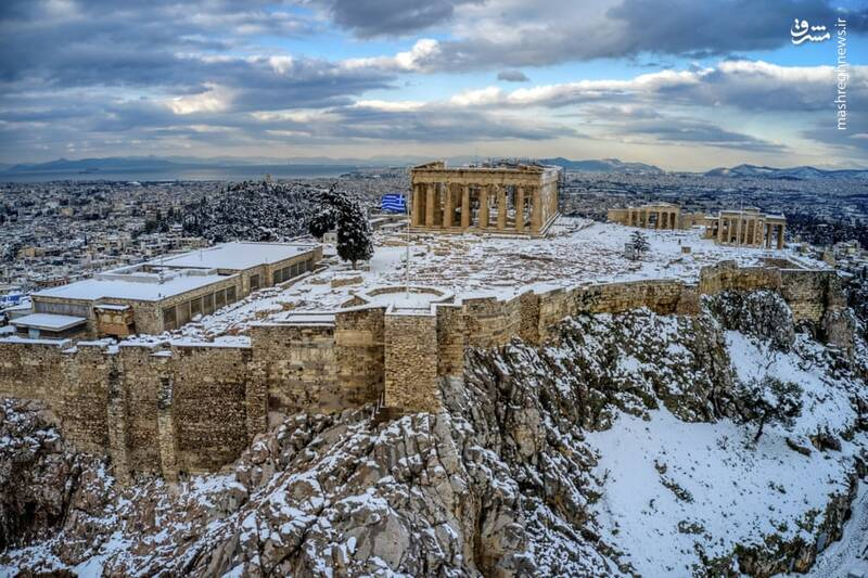بارش شدید برف در یونان