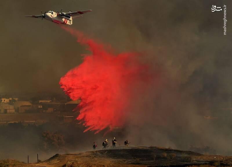 آتش سوزی گسترده در ایالت کالیفرنیا تعداد زیادی از ساکنان منطقه لیک تاهوئی را مجبور به ترک خانه و کاشانه خود کرده است.