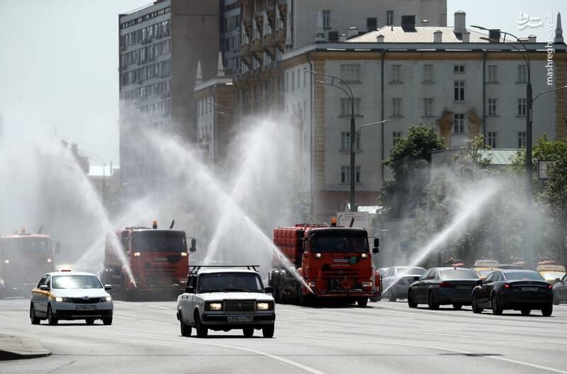 خنک کردن زمین در گرمای روسیه