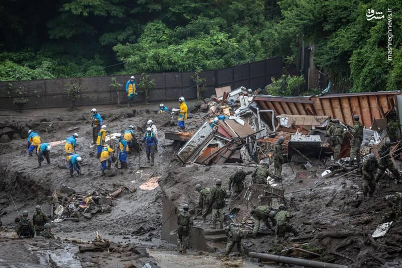 وقوع سیل مهیب در منطقه Shizuoka ژاپن