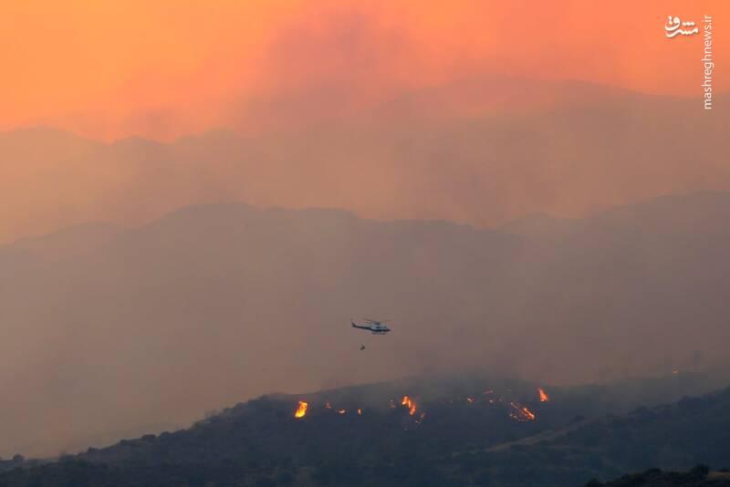 آتش سوزی گسترده در قبرس