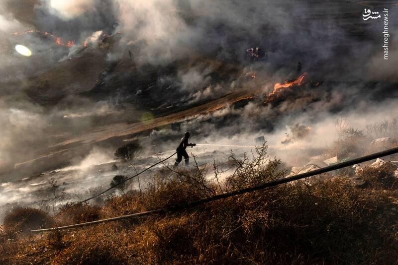 تلاش برای مهار آتش در قبرس