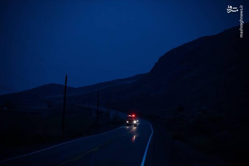 قطع برق در پی آتش سوزی در منطقه Ashcroft کانادا