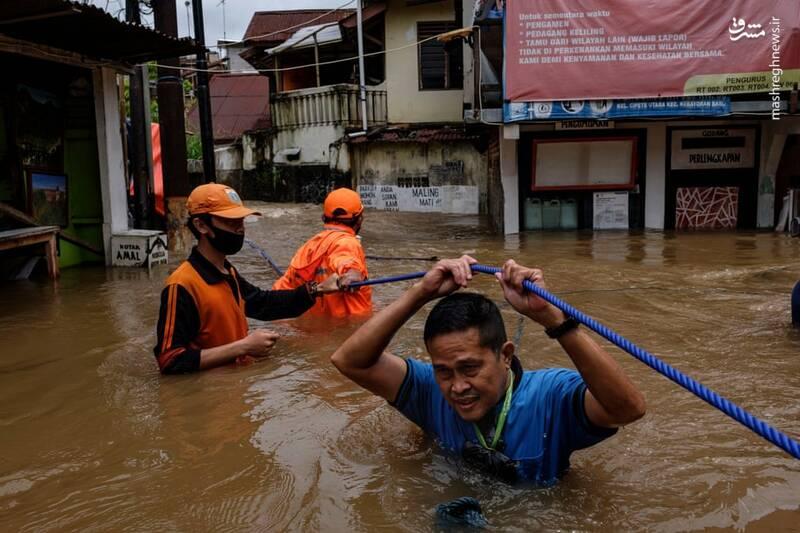 سیل در جاکارتا اندونزی