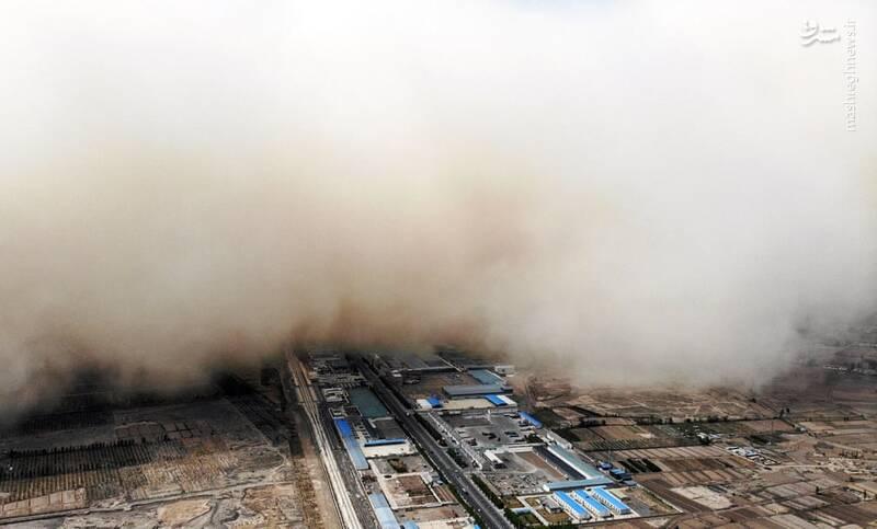 وقوع طوفان مهیب در Zhangye چین