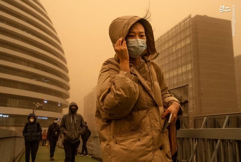 گرد و غبار در Beijing چین