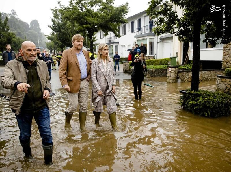 سیلاب در Limburg هلند