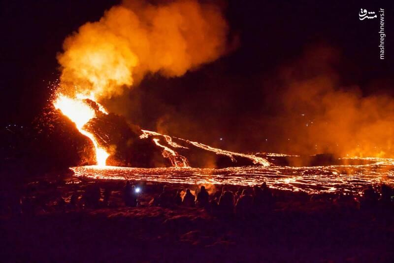 فعال شدن آتشفشان در Reykjavik ایسلند