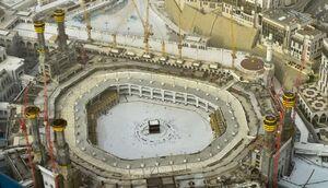 تصویر هوایی از حال و هوای این روزهای مکه