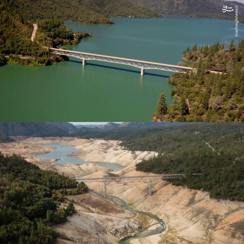 آمریکاییا برای خشک شدن این دریاچه چکار کردن؟+ عکس