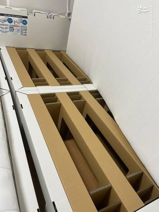 ۲۶ هزار تخت مقوایی در دهکده المپیک توکیو+ عکس