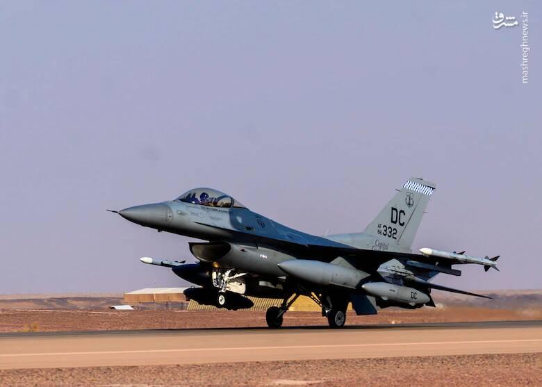 عکس/ حضور اف 16 های آمریکایی در عربستان