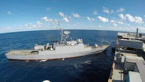 تصاویر جدید از حضور ناوگروه نیروی دریایی ارتش در اقیانوس اطلس