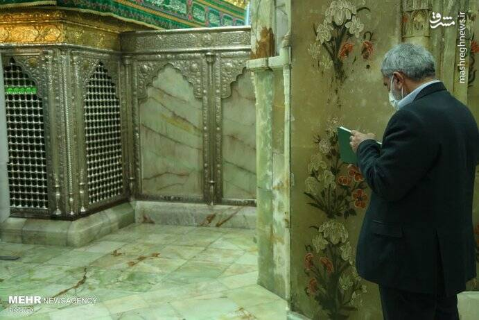 حضور فرمانده سپاه قدس در حرم حضرت معصومه +عکس