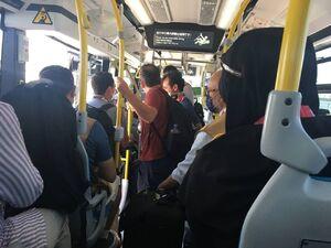 عکس/ وضعیت اتوبوس مخصوص رسانهها در توکیو