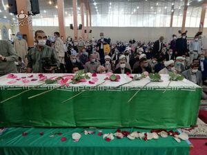 تشییع شهید ضرغام پرست در بندرماهشهر