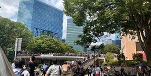 المپیک توکیو| شیوه جدید اعتراض مردم ژاپن این بار مقابل ساختمان دولت