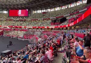فیلم/ ورزشگاه توکیو ساعاتی قبل از افتتاحیه