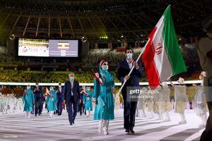 عکس/ رژه کاروان ایران  در مراسم افتتاحیه المپیک