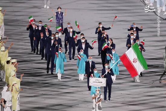 فیلم/ رژه کاروان ایران در المپیک ۲۰۲۰