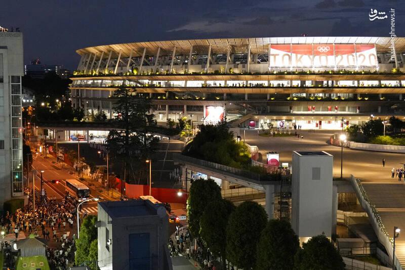 ازدحام ژاپنیها برای حضور در مراسم افتتاحیه المپیک
