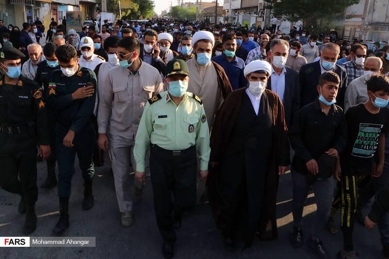 حضور سردار سید محمد صالحی، فرمانده نیروی انتظامی خوزستان