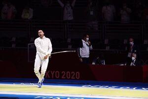 شاهکار پاکدامن در مسابقات شمشیربازی المپیک
