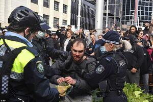 تظاهرات علیه محدودیتهای کرونایی در استرالیا