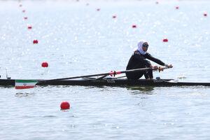 رقابت نازنین ملایی با ۵ قایقران در یک چهارم نهایی المپیک ۲۰۲۰