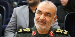 تبریک سردار سلامی برای طلای فروغی