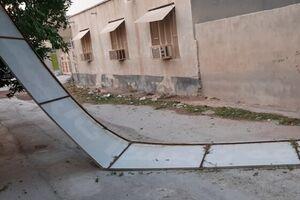 طوفان شدید در پارسیان با یک کشته +عکس و فیلم