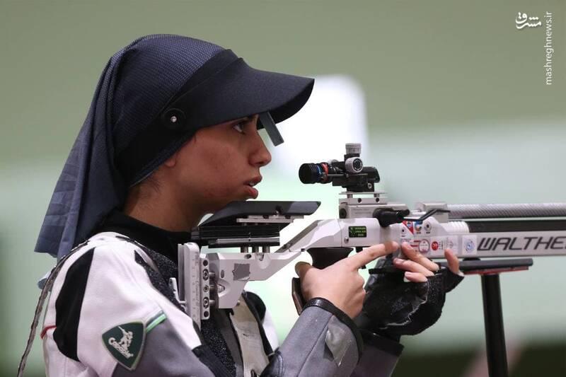 فاطمه کرمزاده نماینده تیراندازی تفنگ بادی ۱۰متر زنان کشورمان