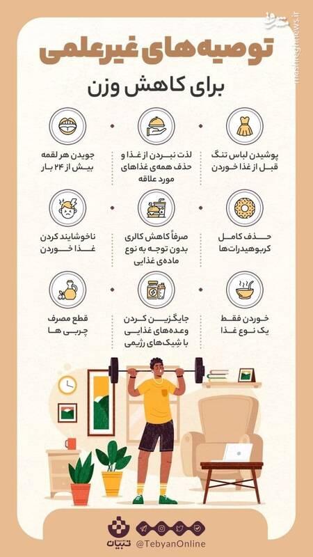 چند نمونه از توصیههای غیرعلمی برای لاغری!