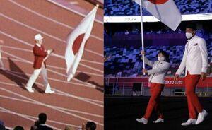 تنها فرق لباس رژه تیم ژاپن از ۵۷ سال پیش تا حالا+ عکس