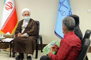 عکس/ دیدار اژهای با خانوادههای محکومان آبان۹۸