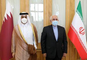 عکس/ دیدار وزیر امور خارجه قطر با ظریف