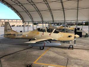 عکس/ تحویل هواپیمای رزمی جدید به نیجریه