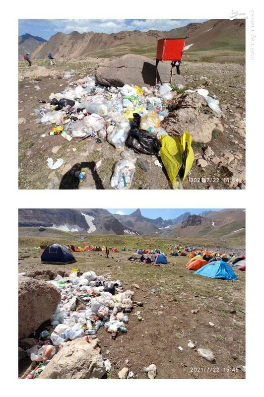 کوهنوردان در حال نابودی کوهها +عکس